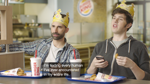 Burger King closed caption